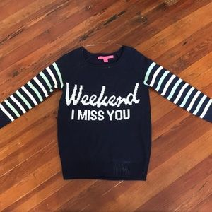"""""""Weekend I Miss You"""" sweater"""